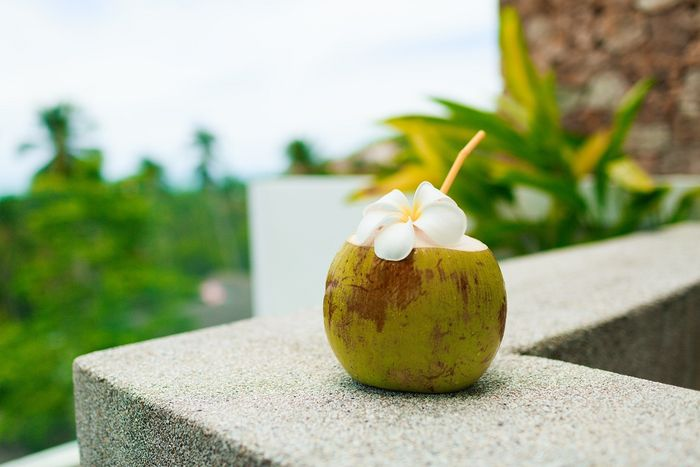 Pure coconut water illustration