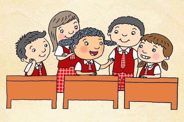 820 Gambar Anak Sekolah Sd Kartun Gratis