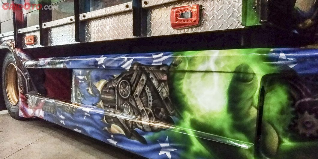 Airbrush di kolong bak Avengers, salah satu kontestan di JFT 2018 – Hikmawan M Firdaus
