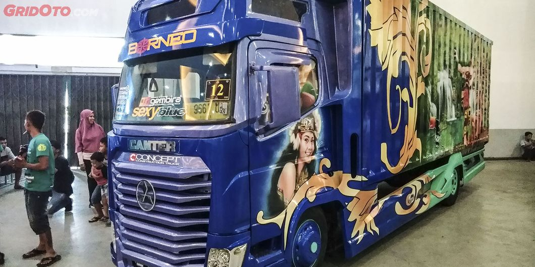 Borneo, salah satu kontestan modifikasi truk di Jogjakarta Truck Festival 2018 - Hikmawan M Firdaus