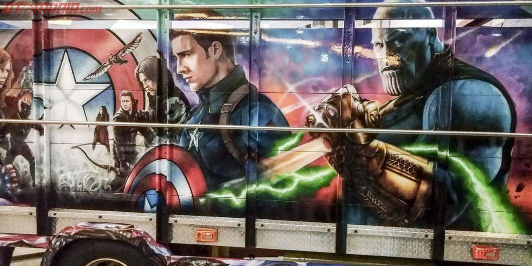 Thanos di bak Avengers, salah satu kontestan modifikasi truk Fuso JFT 2018 – Hikmawan M Firdaus