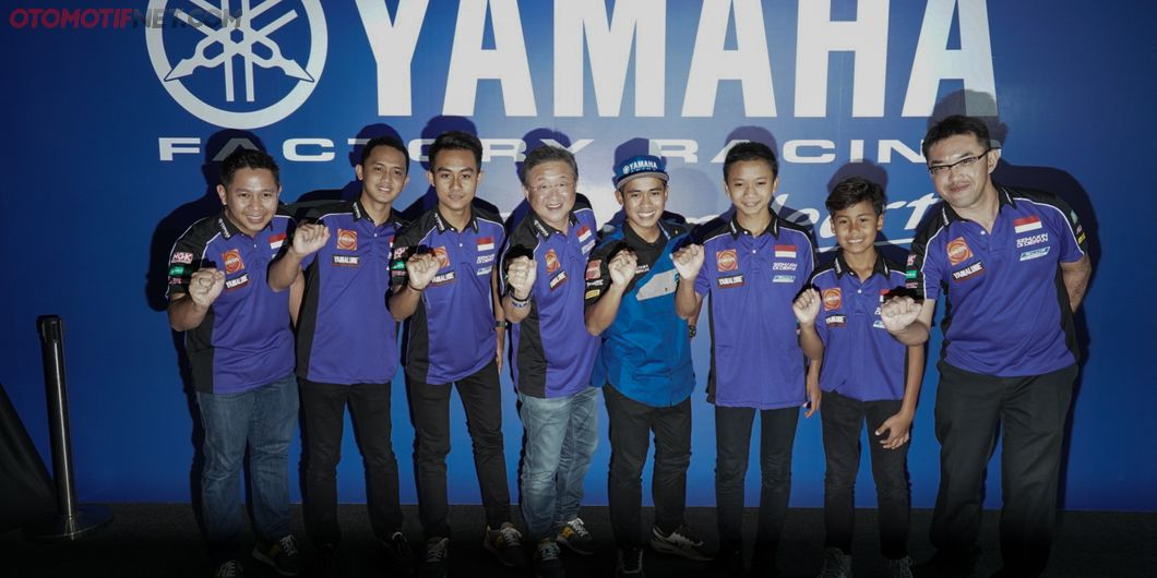 Tim Yamaha Racing Indonesia pada acara Yamaha Motorsports Media Conference 2019