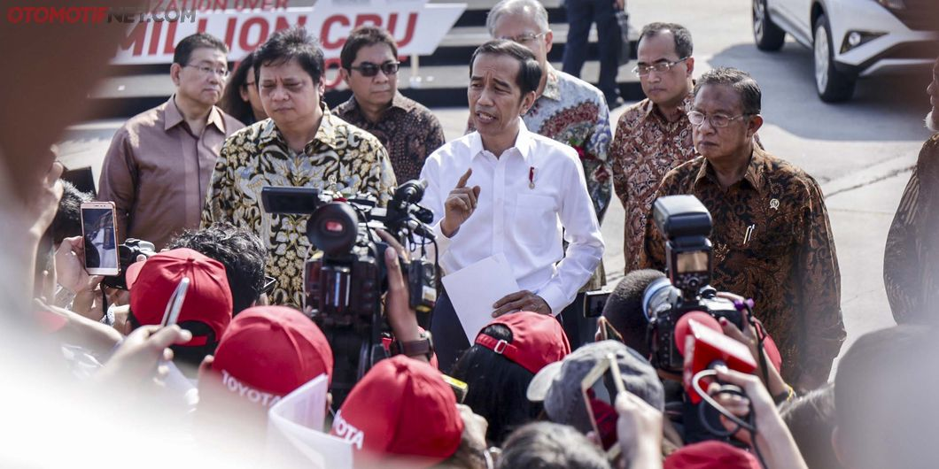 Presiden Joko Widodo, Seremoni Ekspor Sejuta Unit Toyota Indonesia - Photo: RR Inne Aveline