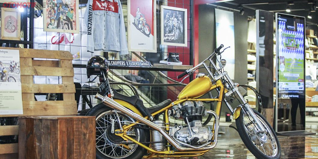 Chopper Presiden Jokowi di  Custom Collaboration 2018. Photo : Indra Kurniawan