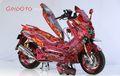 Tampilan Rumit Jawara NMAX Customaxi Bekasi, Full Airbrush Realis Naga