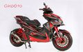 Gahar Nih Aerox Peraih Best Racing Look Customaxi Balikpapan