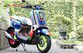 Motor Gemesin, Satu-satunya di Indonesia, Yamaha QBIX Dimodif Penuh Warna