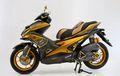 Jadi Lebih Elegan, Modifikasi Yamaha Aerox Bertema Black Gold