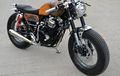 Yamaha Scorpio Dimodif Cafe Racer, Jack Sparrow Jadi Inspirasinya