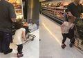 Bikin Geram! Pria Ini Jambak dan Menyeret Anaknya saat Berbelanja