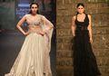 Kareena - Karisma Kapoor Tampil Megah Dalam Balutan Gaun Hitam Putih