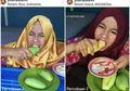 Makan Mangga Dengan Kulitnya, Gadis Ini Diajak Jokowi Sukseskan Asian Games 2018