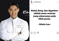 17 Tahun Jadi Koki, Edwin Lau Larang Kita Pesan Soup dan Salad di Restoran, Ini Alasannya!