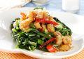 Kangkung Ayam Madu Pedas, Perpaduan Sayur dan Daging yang Mantap Banget!