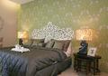 Inspirasi Desain Kamar Tidur, Wallpaper Hijau yang Menyejukkan