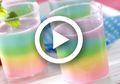 (Video) Resep Puding Gelas Rainbow Cantik Nan Lezat, Camilan Seru Buat di Rumah