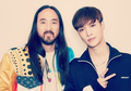 Tampil Bareng Steve Aoki, Lay 'EXO' Siap Kolaborasi untuk Single Baru?