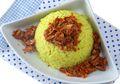Resep Nasi Kuning Abon Cakalang, Resep Nasi Kuning Komplit Untuk Sarapan Yang Mudah Dibuat