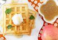Waffle Havermut Saus Apel, Asam Segarnya Sempurna Berpadu dengan Waffle yang Lembut