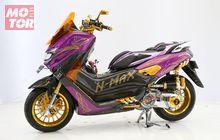 Aplikasi Perpaduan Warna Emas dan Ungu, Yamaha NMAX Ini Sabet Gelar di Customaxi Makassar