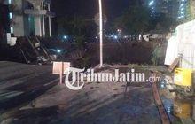Surabaya Heboh, Jalan Raya Gubeng Tiba-Tiba Amblas Puluhan Meter