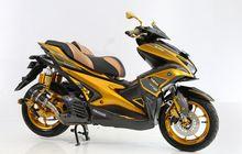 Modifikasi Yamaha Aerox Jadi Lebih Elegan Dengan Tema Black Gold