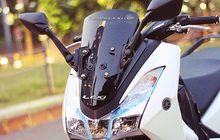Yamaha Lexi Makin Sporty, Pakai Spion R25, Posisi Dipindah Ke Depan