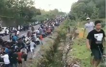 Video Kocar-kacir Penonton Balap Liar Saat Lihat Mobil Polisi Datang