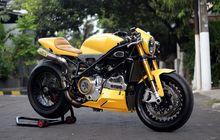 Mewah...Ducati 848 Evo Sporty Dibikin Tua, Otot Mudanya Gak Bohong