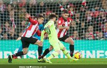 Hasil Liga Spanyol  - 1 Pemain Bilbao Dikartu Merah, Barcelona Gagal Menang