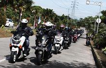 Serunya Jurnalis Penunggang Maxi Yamaha Jajal Ban Baru ke Bogor