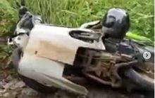 Yamaha Mio Terkapar, Kaki-kaki Depan Ringsek Lawan Harley-Davidson