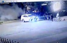 Ledakan Bikin Geger di Parkir Istora Senayan, Toyota Fortuner dan Motor Rusak