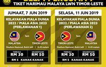 Jelang Laga Melawan Timor Leste, Malaysia Adakan Promo Tiket