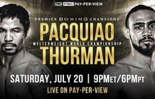 Lewat 12 Ronde, Manny Pacquiao Sukses Rebut Gelar Keith Thurman
