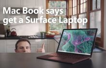 Microsoft Sindir Apple Lewat Iklan Surface Laptop 2 'Mac Book'