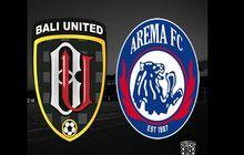 link live streaming bali united vs arema fc, misi pertahankan takhta