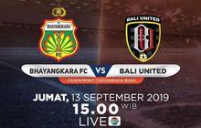 Link Live Streaming Bhayangkara FC Vs Bali United