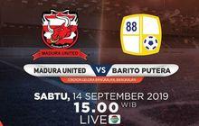 Link Live Streaming Madura United Vs Barito Putera, Duel Pekan ke-18 Liga 1 2019
