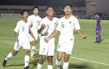 athallah araihan bikin quatrick, timnas u-16 indonesia pesta 6 gol pada babak pertama