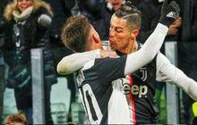 Terekam, Ronaldo dan Dybala Tak Sengaja Berciuman Ketika Selebrasi