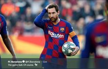 Lionel Messi Cetak Empat Gol, Eibar Berikan Pesan Respek dan Pujian