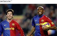 Samuel Eto'o Tersinggung Ketika Diwawancarai Soal Lionel Messi