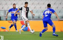 Sepakannya Dihalangi, Cristiano Ronaldo Tendang Bek Sampdoria Sampai Pincang