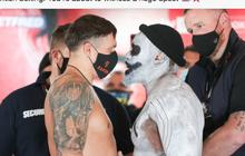 Dereck Chisora Intimidasi Oleksandr Usyk dengan Tampil Bak Joker