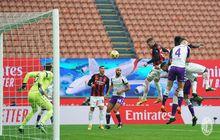 Hasil Liga Italia - Diwarnai Selebrasi Gol Kontroversial Sang Kapten, AC Milan Tumbangkan Fiorentina