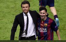 VIDEO - Messi Lakukan Ini saat Ketemu Mantan Pelatih Barcelona di Piala Super Spanyol