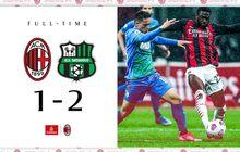 Hasil Liga Italia - AC Milan Korban Comeback Sassuolo, Fan Inter Milan Cetak 2 Gol dalam 7 Menit