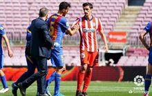 Gelandang Barcelona Punya Wajah Memar dan Celah di Rahang Usai Bertabrakan dengan Bek Atletico Madrid