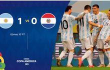 Copa America 2021 - Argentina Menang Minimalis, Lionel Messi Cs Pertajam Rekor Tak Terkalahkan
